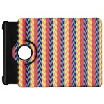 Colorful Chevron Retro Pattern Kindle Fire HD Flip 360 Case Front