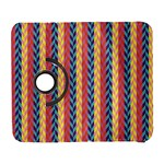 Colorful Chevron Retro Pattern Samsung Galaxy S  III Flip 360 Case Front