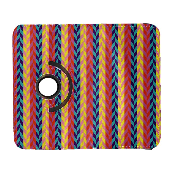 Colorful Chevron Retro Pattern Samsung Galaxy S  III Flip 360 Case