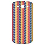 Colorful Chevron Retro Pattern Samsung Galaxy S3 S III Classic Hardshell Back Case Front