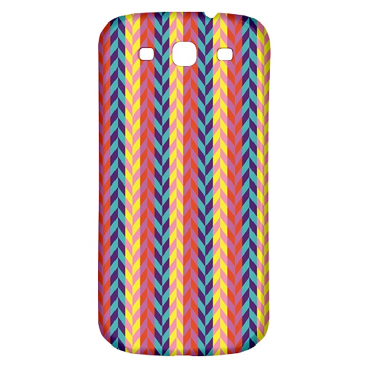 Colorful Chevron Retro Pattern Samsung Galaxy S3 S III Classic Hardshell Back Case