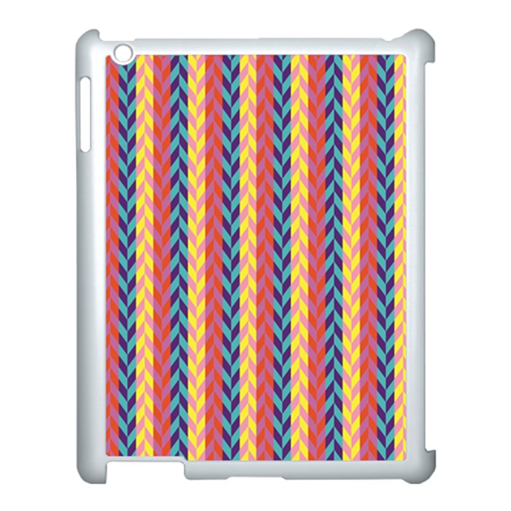 Colorful Chevron Retro Pattern Apple iPad 3/4 Case (White)