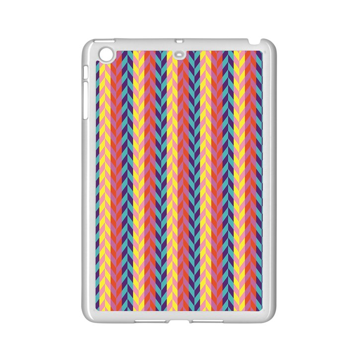 Colorful Chevron Retro Pattern iPad Mini 2 Enamel Coated Cases