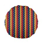 Colorful Chevron Retro Pattern Standard 15  Premium Round Cushions Front
