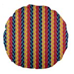 Colorful Chevron Retro Pattern Large 18  Premium Round Cushions Back