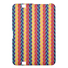 Colorful Chevron Retro Pattern Kindle Fire Hd 8 9