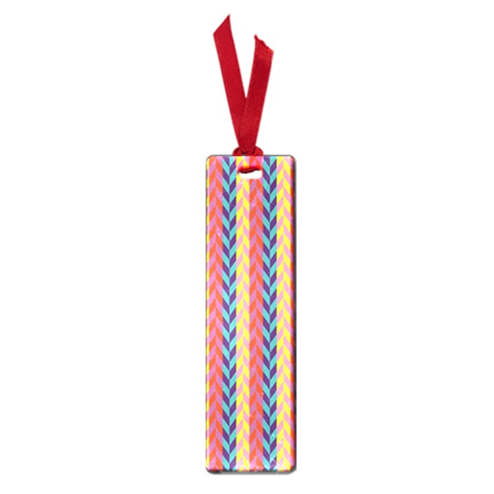 Colorful Chevron Retro Pattern Small Book Marks