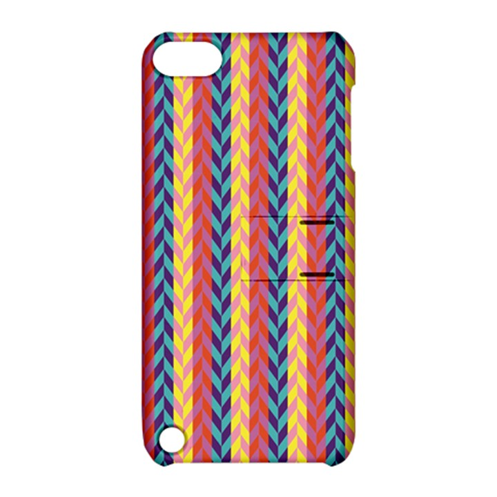 Colorful Chevron Retro Pattern Apple iPod Touch 5 Hardshell Case with Stand
