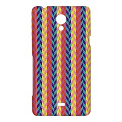Colorful Chevron Retro Pattern Sony Xperia T