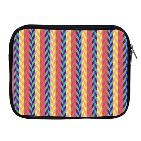 Colorful Chevron Retro Pattern Apple iPad 2/3/4 Zipper Cases