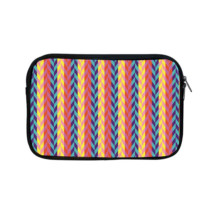 Colorful Chevron Retro Pattern Apple iPad Mini Zipper Cases