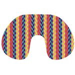 Colorful Chevron Retro Pattern Travel Neck Pillows Front