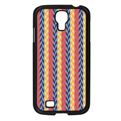 Colorful Chevron Retro Pattern Samsung Galaxy S4 I9500/ I9505 Case (Black)