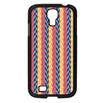 Colorful Chevron Retro Pattern Samsung Galaxy S4 I9500/ I9505 Case (Black) Front