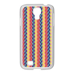 Colorful Chevron Retro Pattern Samsung GALAXY S4 I9500/ I9505 Case (White)