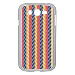 Colorful Chevron Retro Pattern Samsung Galaxy Grand DUOS I9082 Case (White) Front