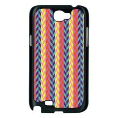 Colorful Chevron Retro Pattern Samsung Galaxy Note 2 Case (Black)