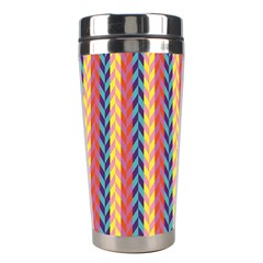Colorful Chevron Retro Pattern Stainless Steel Travel Tumblers