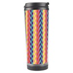 Colorful Chevron Retro Pattern Travel Tumbler Left
