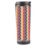 Colorful Chevron Retro Pattern Travel Tumbler Right