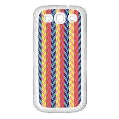Colorful Chevron Retro Pattern Samsung Galaxy S3 Back Case (white)