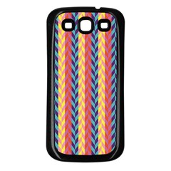 Colorful Chevron Retro Pattern Samsung Galaxy S3 Back Case (black)