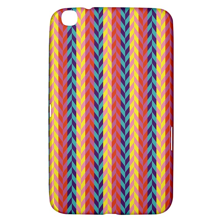 Colorful Chevron Retro Pattern Samsung Galaxy Tab 3 (8 ) T3100 Hardshell Case