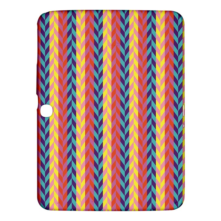 Colorful Chevron Retro Pattern Samsung Galaxy Tab 3 (10.1 ) P5200 Hardshell Case