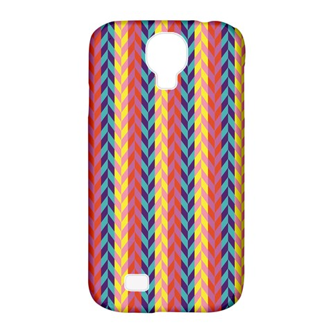 Colorful Chevron Retro Pattern Samsung Galaxy S4 Classic Hardshell Case (PC+Silicone)