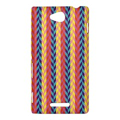 Colorful Chevron Retro Pattern Sony Xperia C (S39H)