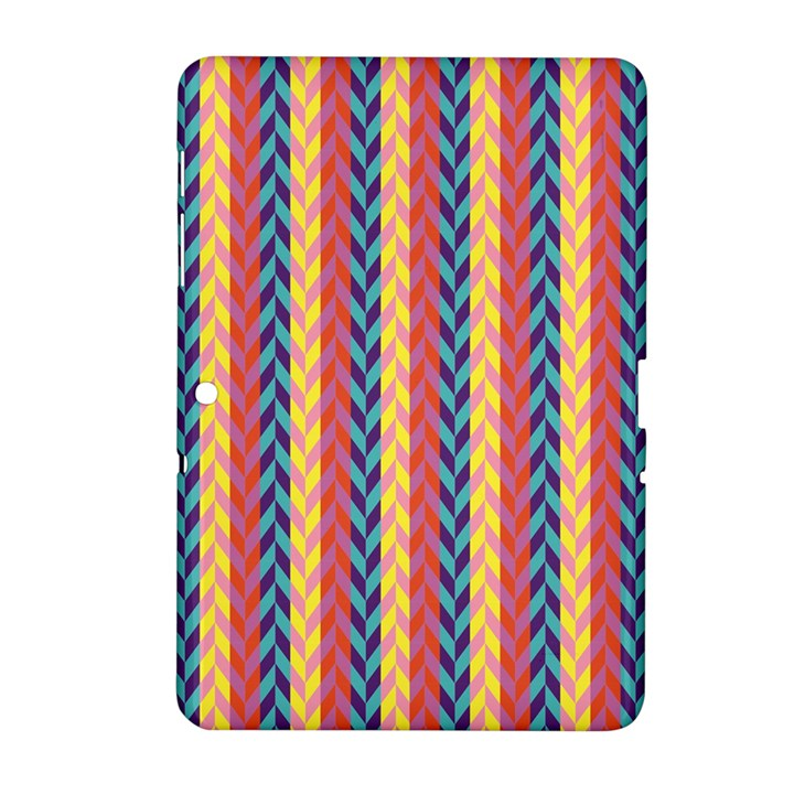Colorful Chevron Retro Pattern Samsung Galaxy Tab 2 (10.1 ) P5100 Hardshell Case