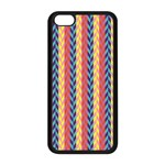 Colorful Chevron Retro Pattern Apple iPhone 5C Seamless Case (Black) Front