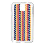 Colorful Chevron Retro Pattern Samsung Galaxy Note 3 N9005 Case (White) Front