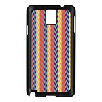 Colorful Chevron Retro Pattern Samsung Galaxy Note 3 N9005 Case (Black) Front