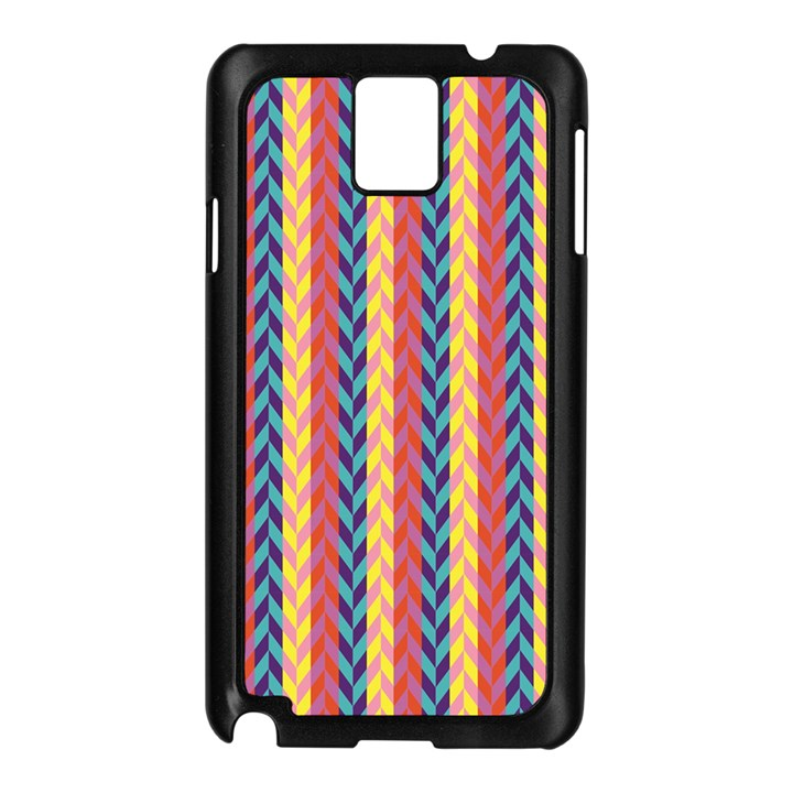 Colorful Chevron Retro Pattern Samsung Galaxy Note 3 N9005 Case (Black)