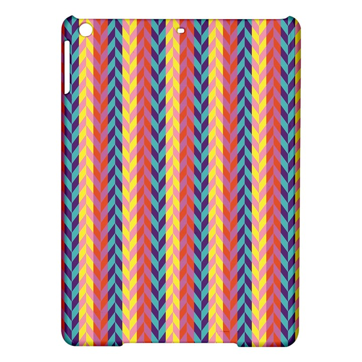 Colorful Chevron Retro Pattern iPad Air Hardshell Cases