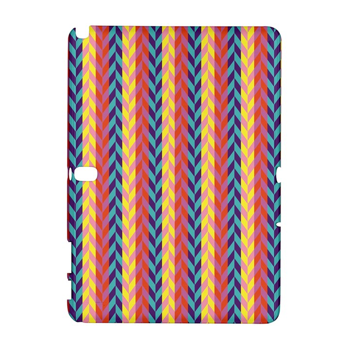 Colorful Chevron Retro Pattern Samsung Galaxy Note 10.1 (P600) Hardshell Case