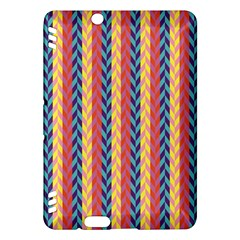 Colorful Chevron Retro Pattern Kindle Fire HDX Hardshell Case