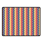 Colorful Chevron Retro Pattern Double Sided Fleece Blanket (Small)  50 x40 Blanket Back