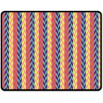 Colorful Chevron Retro Pattern Double Sided Fleece Blanket (Medium)  60 x50 Blanket Front