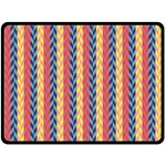 Colorful Chevron Retro Pattern Double Sided Fleece Blanket (Large)  80 x60 Blanket Back