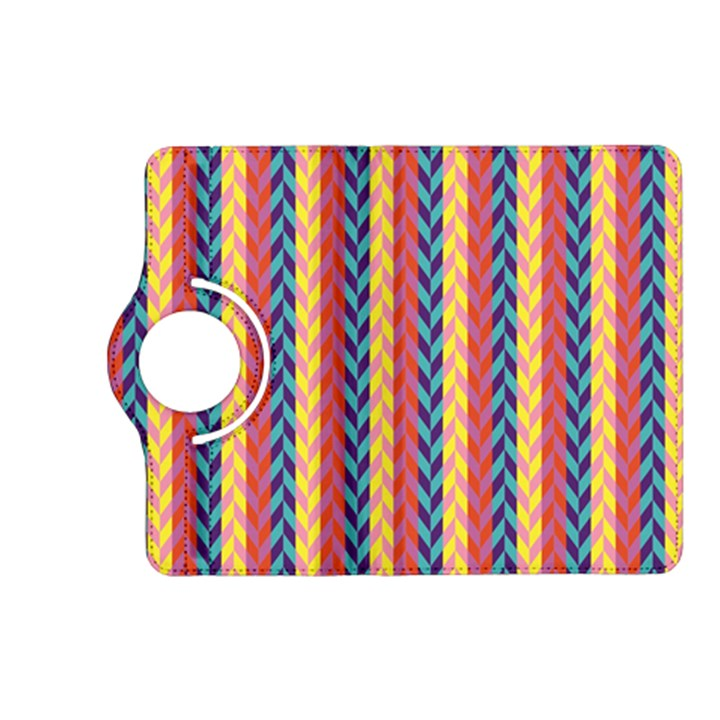 Colorful Chevron Retro Pattern Kindle Fire HD (2013) Flip 360 Case