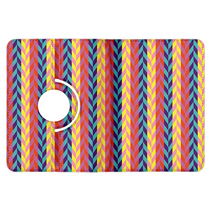 Colorful Chevron Retro Pattern Kindle Fire HDX Flip 360 Case