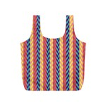 Colorful Chevron Retro Pattern Full Print Recycle Bags (S)  Front