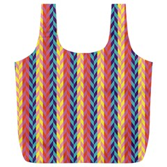 Colorful Chevron Retro Pattern Full Print Recycle Bags (l)