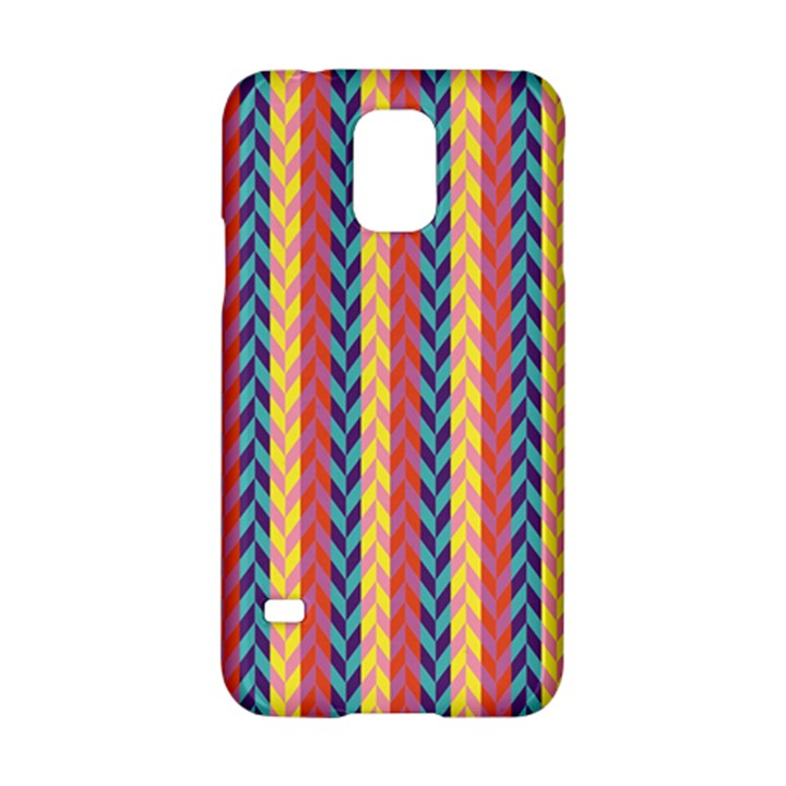 Colorful Chevron Retro Pattern Samsung Galaxy S5 Hardshell Case