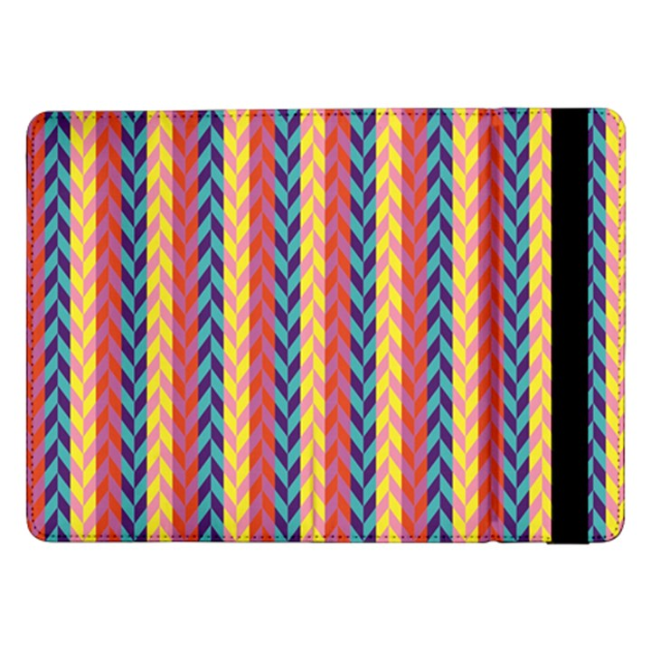 Colorful Chevron Retro Pattern Samsung Galaxy Tab Pro 12.2  Flip Case