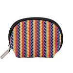 Colorful Chevron Retro Pattern Accessory Pouches (Small)  Front