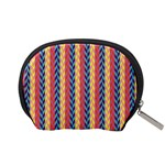 Colorful Chevron Retro Pattern Accessory Pouches (Small)  Back