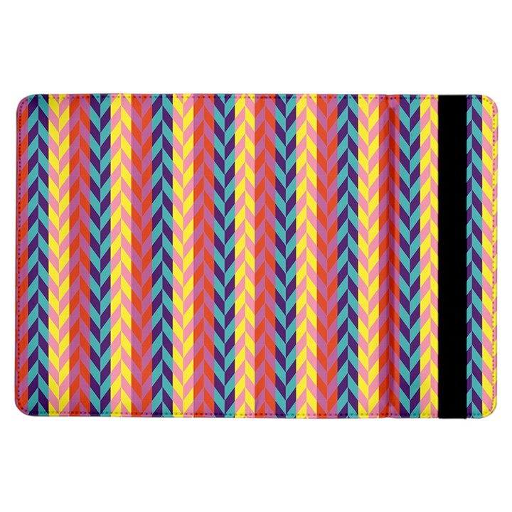 Colorful Chevron Retro Pattern iPad Air Flip